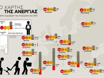 Ο χάρτης της ανεργίας