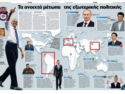 Τα ανοιχτά μέτωπα της εξωτερικής πολιτικής